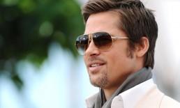 Brad Pitt con gli occhiali da sole a goccia