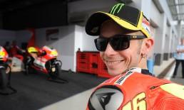 Valentino Rossi con una montatura Oakley