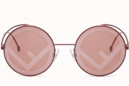 fendirama occhiali sole rossi