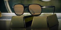Persol Occhiali da sole lenti placcate oro 24K