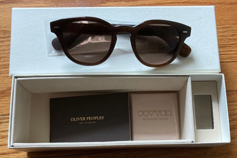 occhiali CARY GRANT OLIVER PEOPLES DARK BROWN GENUINE HORN