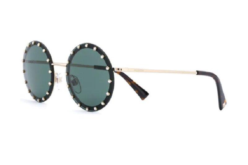 Valentino occhiali da sole rotondo con borchie